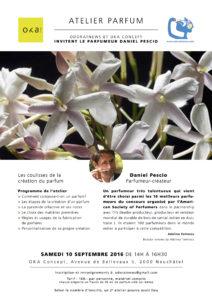 """Atelier """"Les coulisses de la création de parfum"""""""