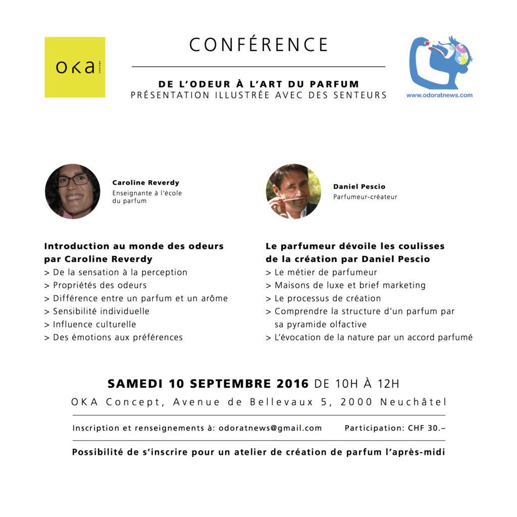 """Conférence """"De l'odeur à l'art du parfum"""""""