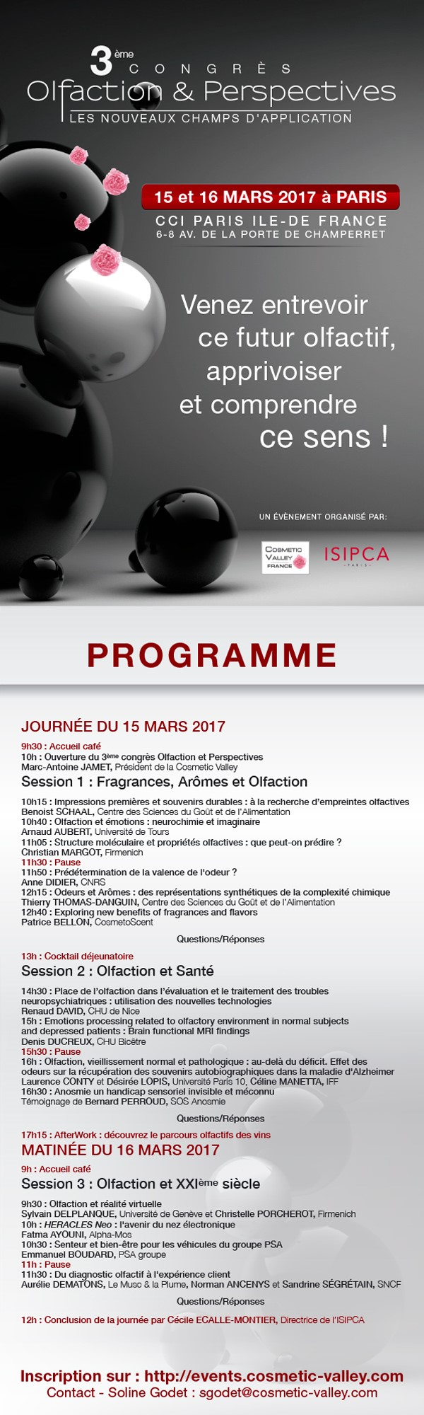 Programme Congrès Olfaction & Perspectives 2017