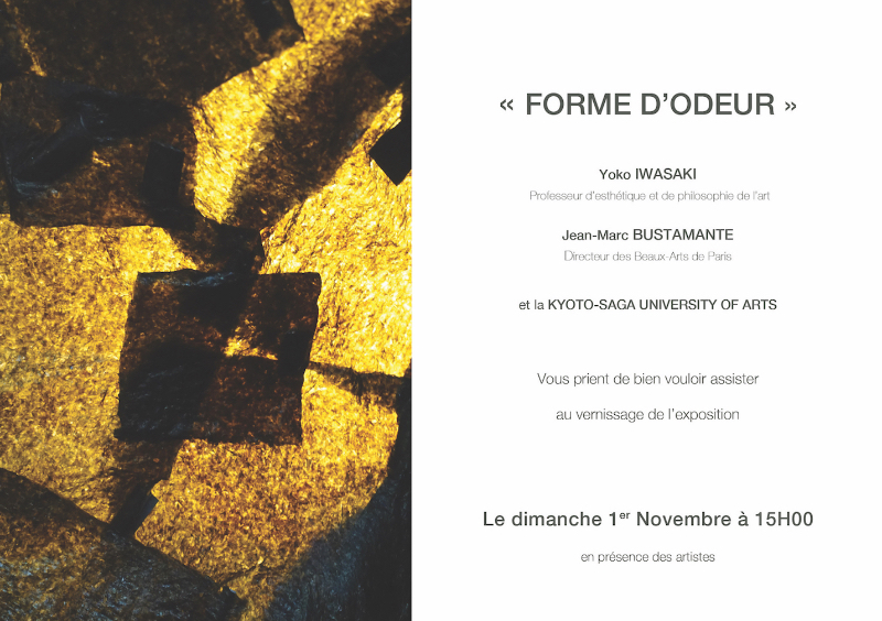 Vernissage Forme d'Odeur