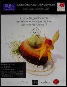 Affiche de la table ronde : La haute gastronomie est-elle une marque de luxe comme les autres ?