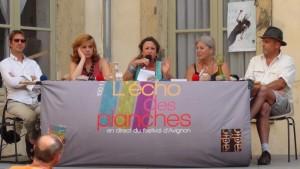 Philippe Boronad, Violaine de Carné,  Dominique Paquet,  Jacqueline Blanc-Mouchet, Renaud Arrighi (© eatheatre)