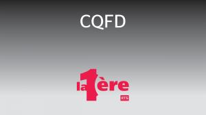 émission CQFD sur la Première - RTS